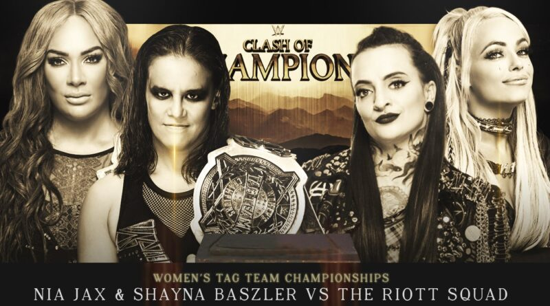 Clash of Champions: The Riott Squad Vs Nia Jax & Shayna Baszler [Women's Tag Team Championship Match Simulation] #WWEClash #WWE #WWE2KMods